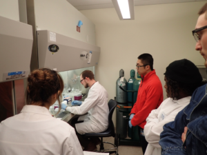 Brandon LaBumbard teaches qPCR at the Woodhams lab.